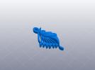 飞鱼吊坠模型 3D模型 图2