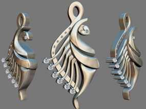 飞鱼吊坠模型 3D模型