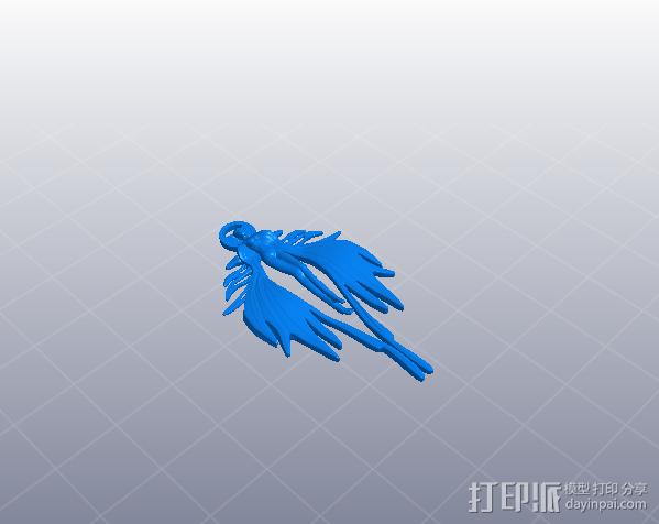 天使吊坠 3D模型  图2