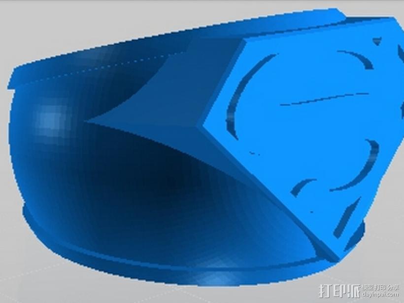 超人戒指 3D模型  图1