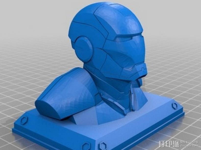 钢铁侠半身像 3D模型  图1