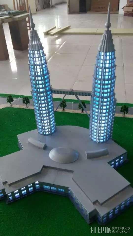 马来西亚双子塔 3D模型  图2