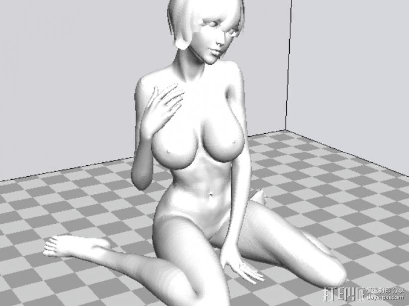 裸女 3D模型  图1