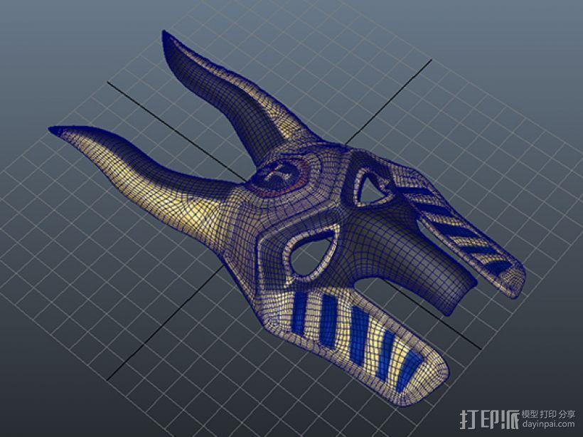 法老面具 3D模型  图3