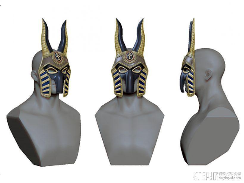 法老面具 3D模型  图2