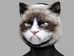 愤怒猫面具 3D模型