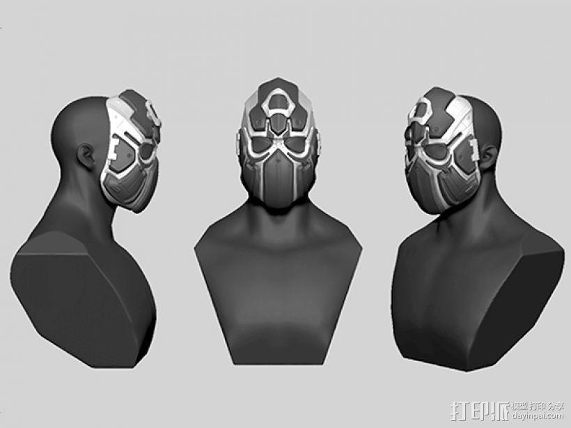 科幻机械面具 3D模型  图2
