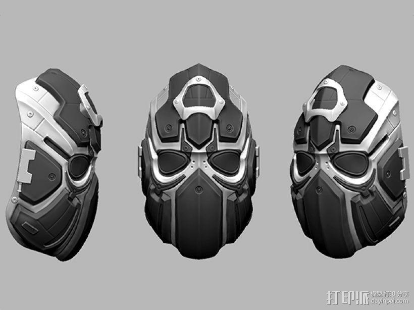 科幻机械面具 3D模型  图3