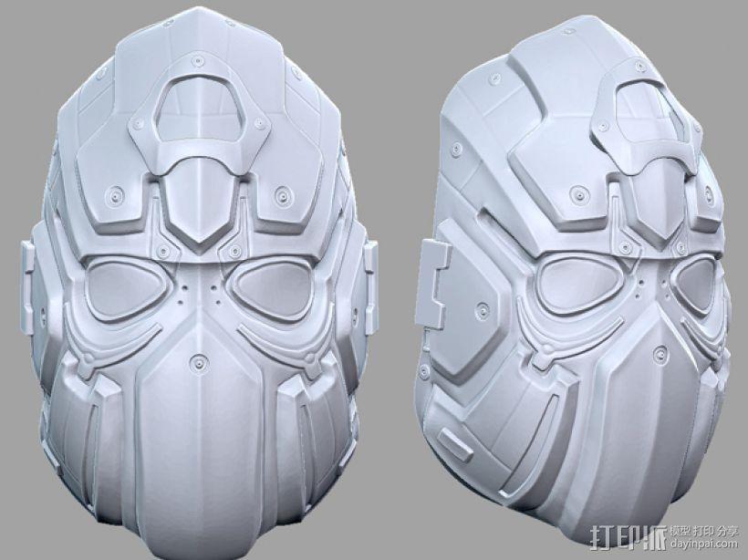 科幻机械面具 3D模型  图4