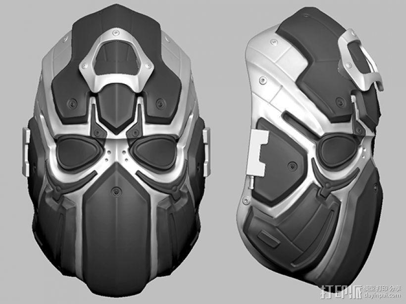 科幻机械面具 3D模型  图1