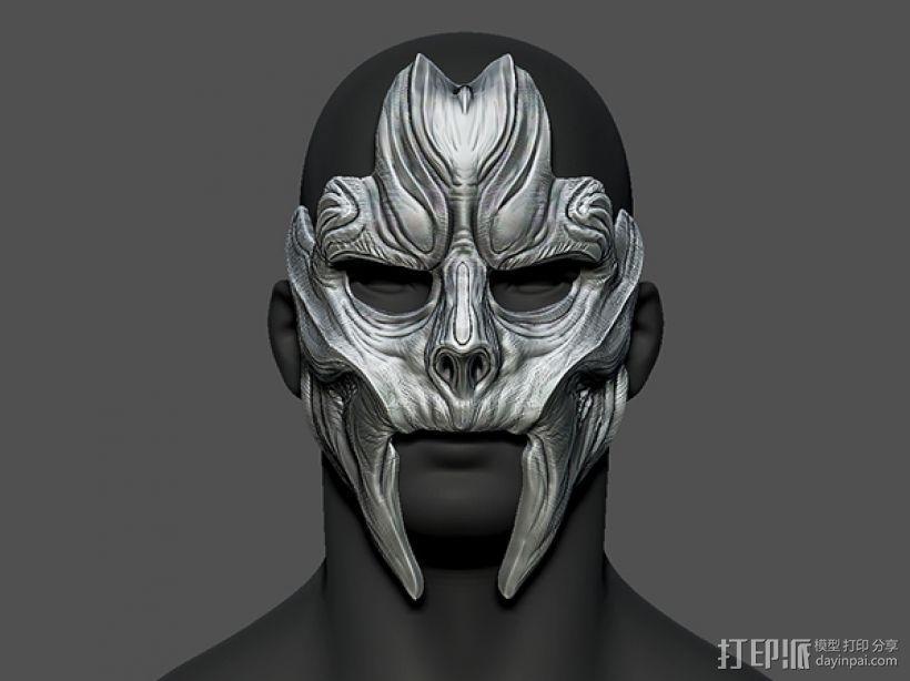 骷髅王面具 3D模型  图2