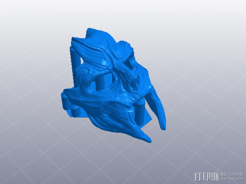 骷髅王面具 3D模型  图4