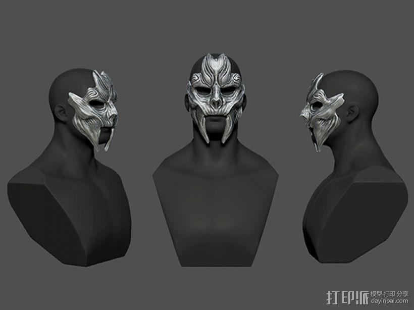 骷髅王面具 3D模型  图3