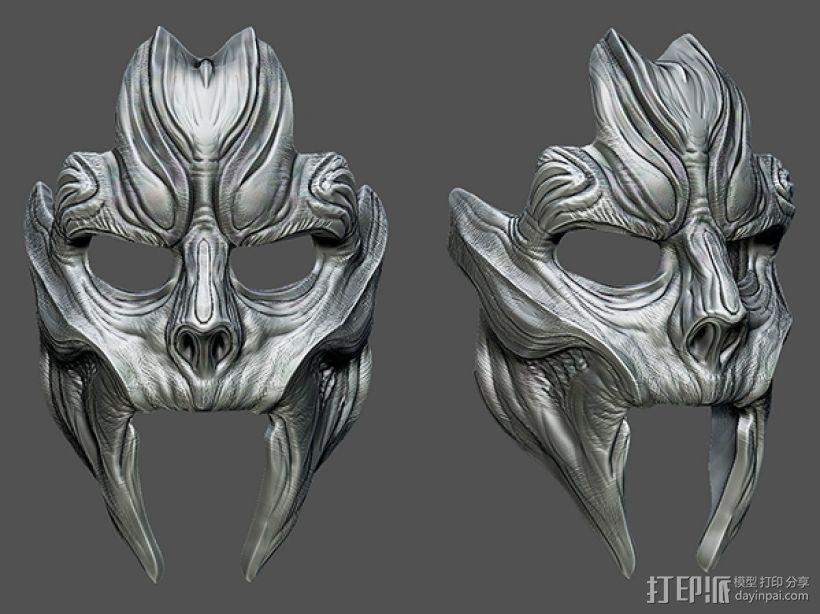 骷髅王面具 3D模型  图1
