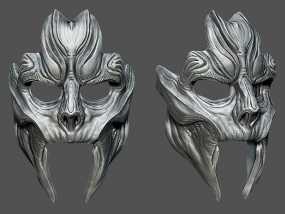 骷髅王面具 3D模型