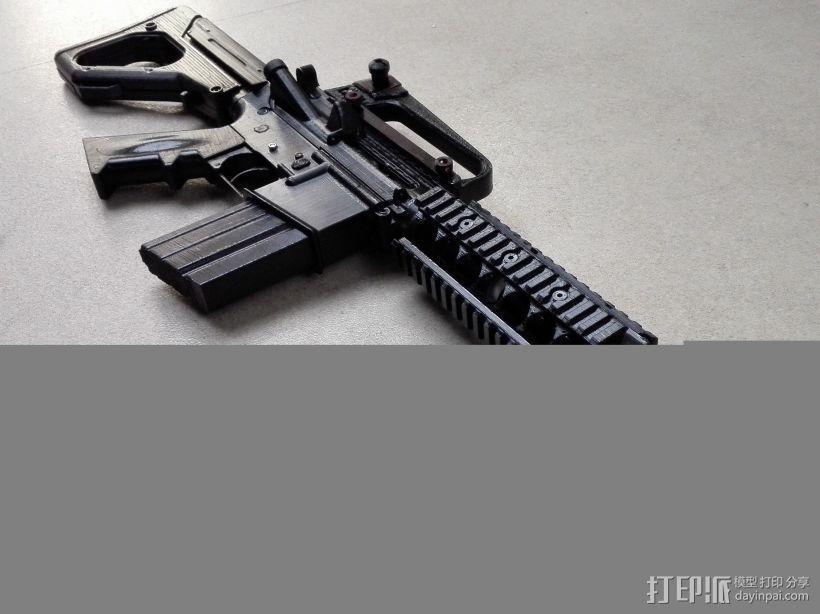 M4A1 3D模型  图1