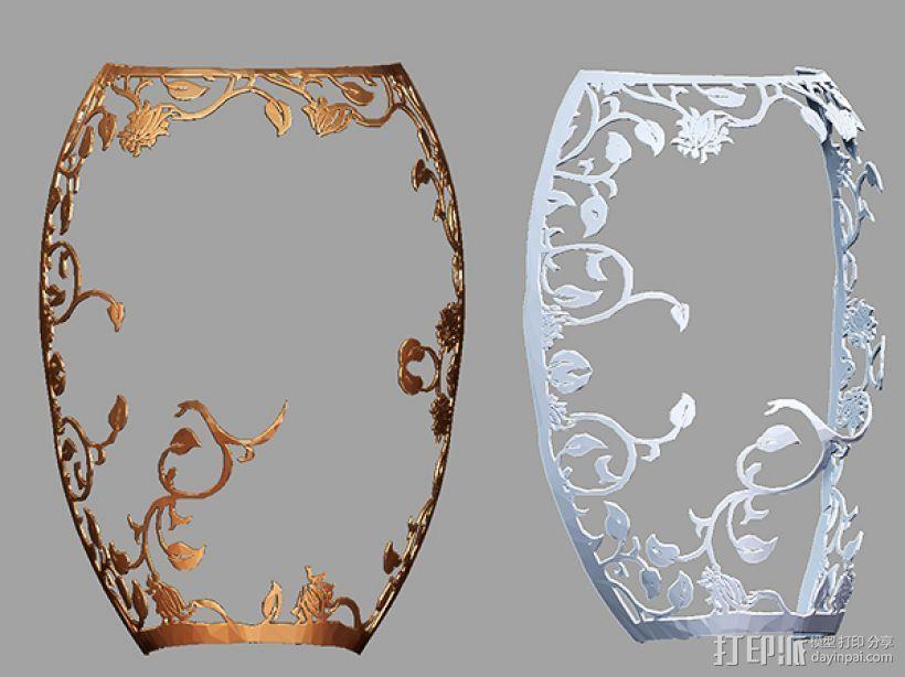 镂空花纹面具。 3D模型  图1