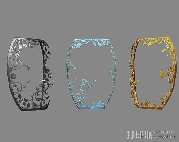 镂空花纹面具。 3D模型  图2