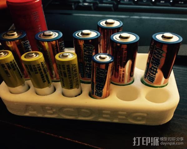 电池架子,电池待命架 3D模型  图1