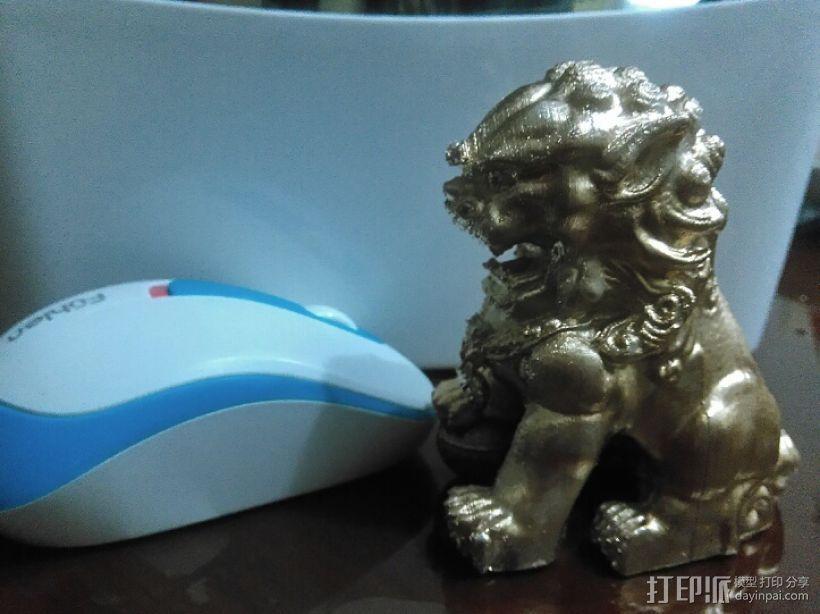 中国看门狮子 3D模型  图1