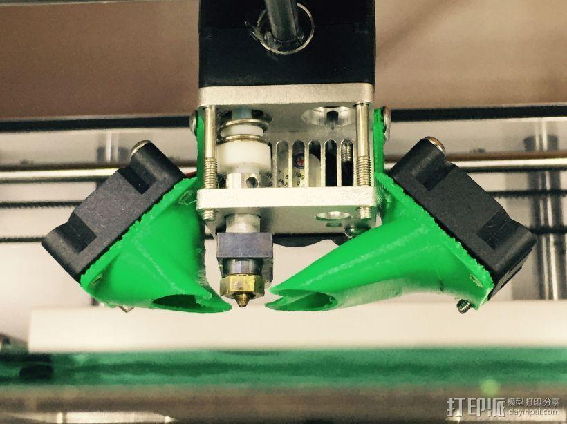 UM2风扇风道 强制冷却 3D模型  图1