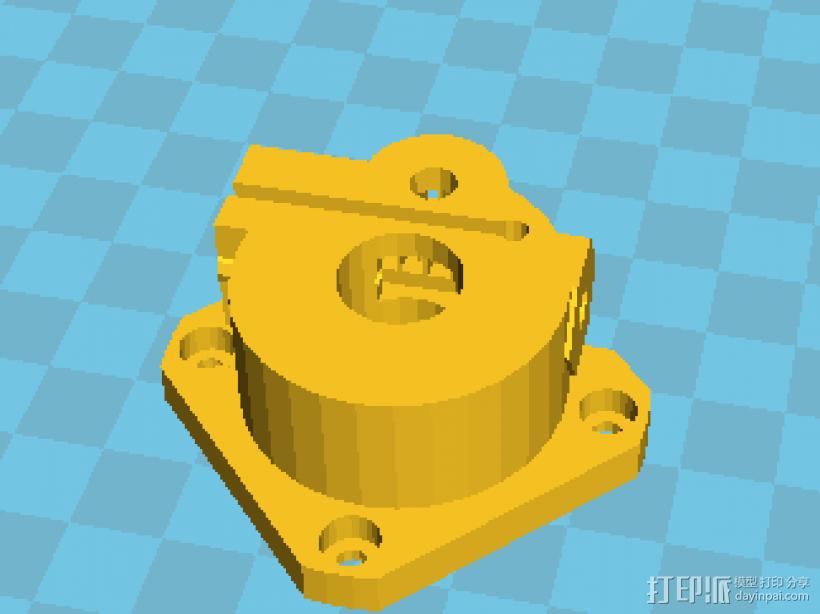 k800改良挤出机 3D模型  图2