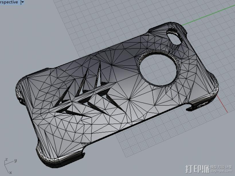 iphone 4s 手机壳 3D模型  图1