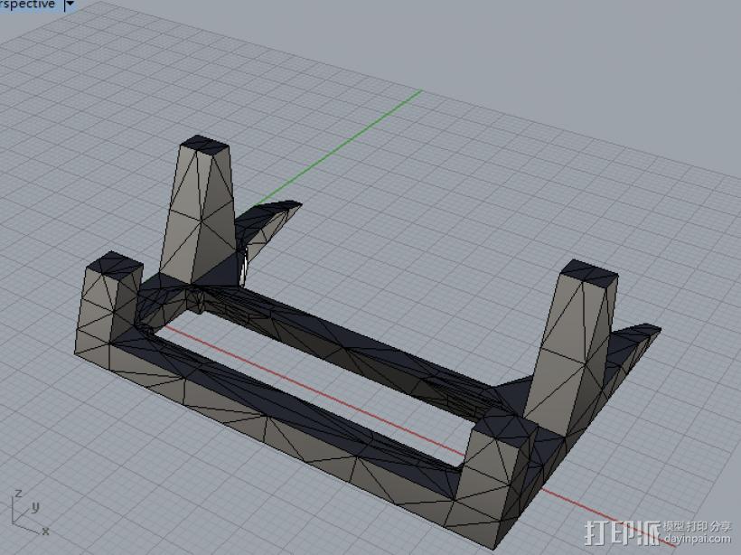 手机架子 3D模型  图1