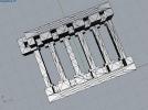 FTO玻璃清洗架子 3D模型 图1