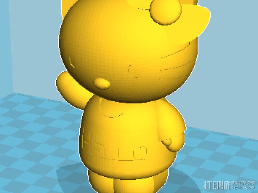 Hello kitty 2件套 3D模型  图1