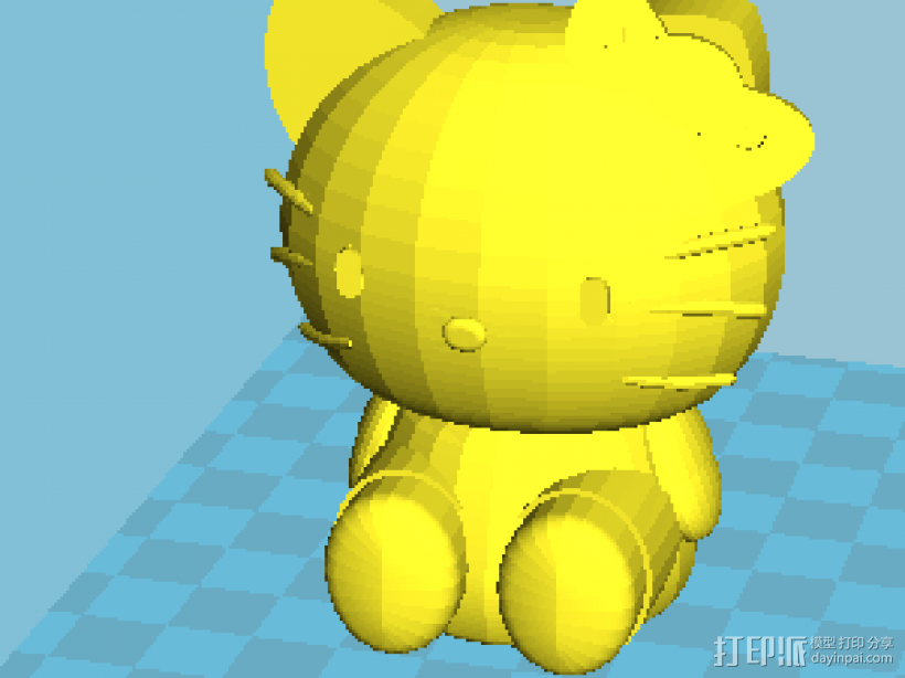 Hello kitty 2件套 3D模型  图2