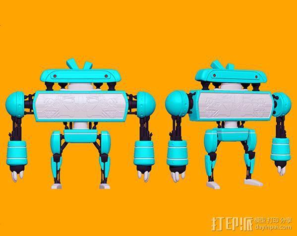 卡通机器人B 3D模型  图2
