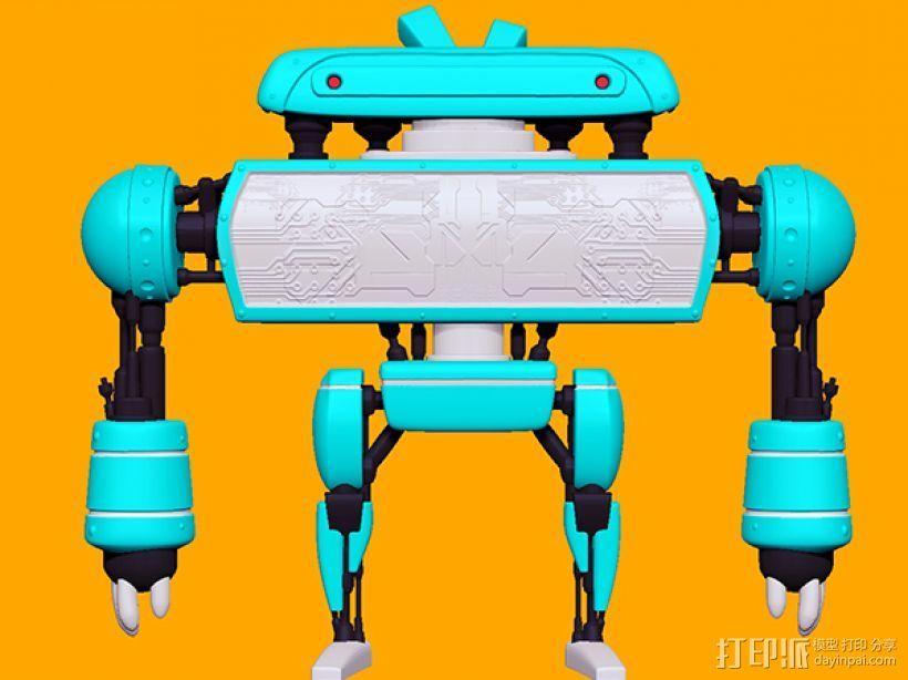 卡通机器人B 3D模型  图1