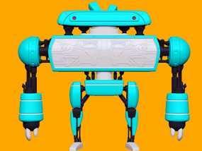 卡通机器人B 3D模型