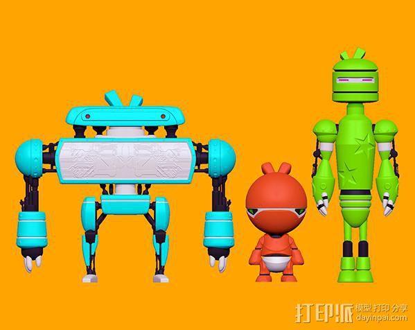 卡通机器人B 3D模型  图3