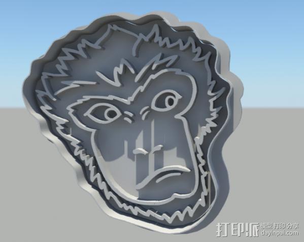 大圣归来 孙悟空 齐天大圣 饼干模具 3D模型  图2