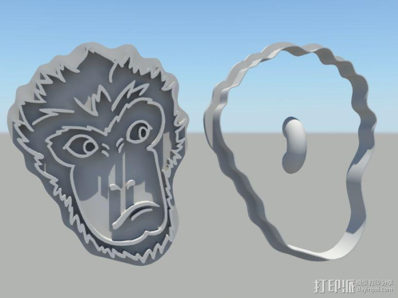 大圣归来 孙悟空 齐天大圣 饼干模具 3D模型  图1