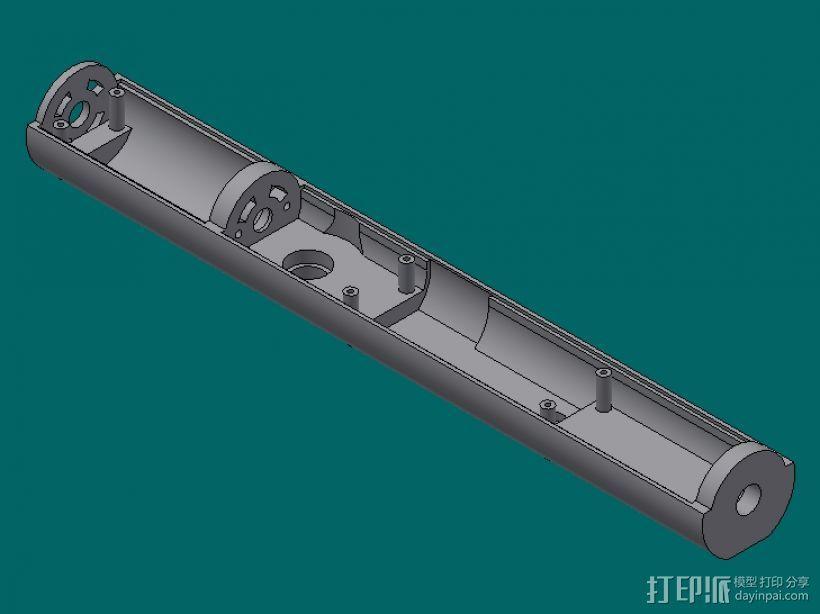 下盖板 3D模型  图1