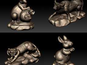 十二生肖 鼠 3D模型