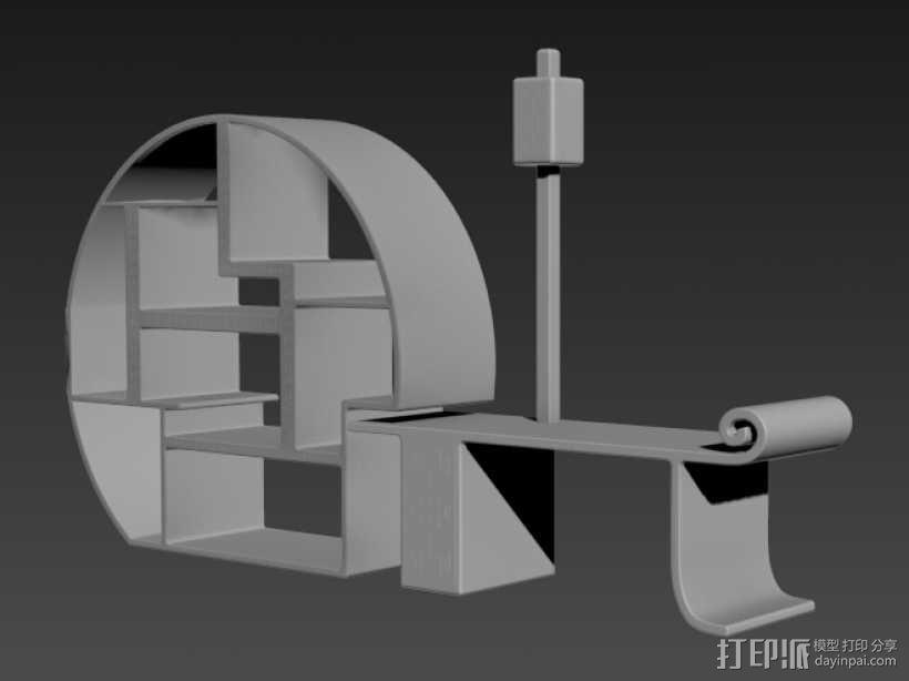 古典家具 3D模型  图1