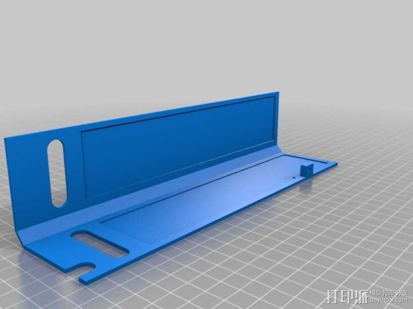 Ultimaker 2 伺服电机罩,盖子带风扇版本 3D模型  图5