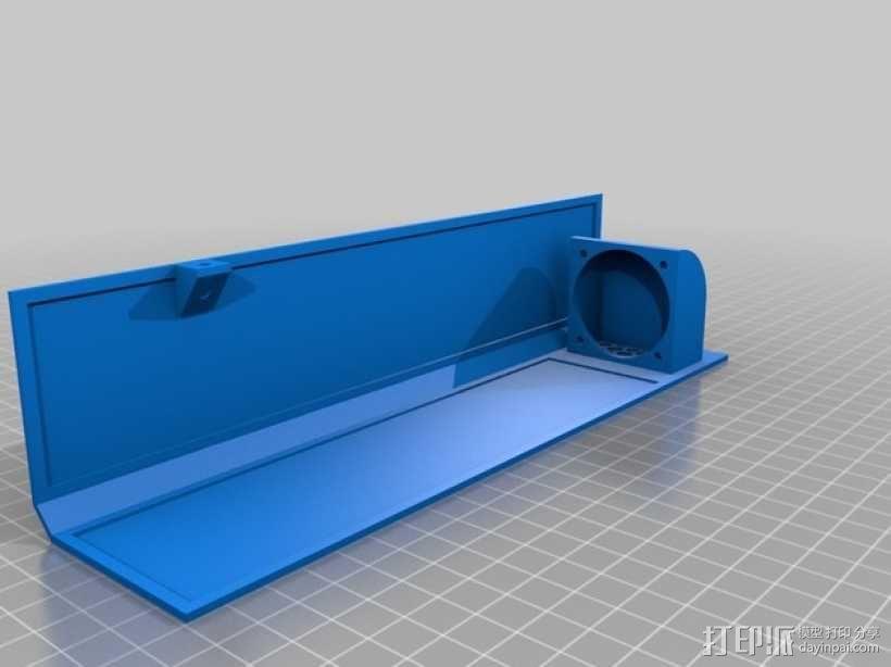 Ultimaker 2 伺服电机罩,盖子带风扇版本 3D模型  图6