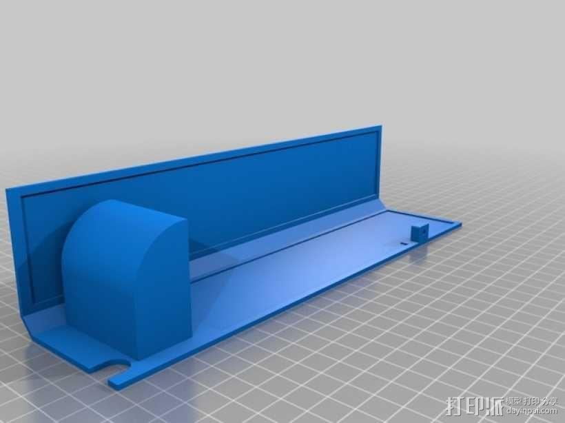 Ultimaker 2 伺服电机罩,盖子带风扇版本 3D模型  图4