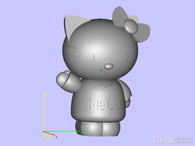hello kitty 3D模型  图2