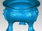 三足鼎,文物古董 3D模型 图1