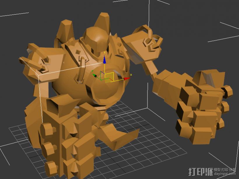 蒸汽机器人 3D模型  图1