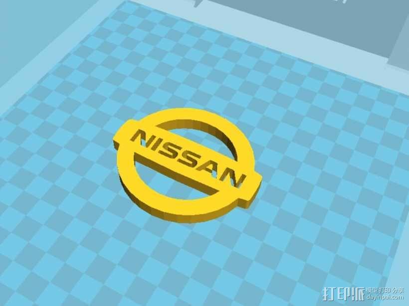 Nissan logo图标 3D模型  图2