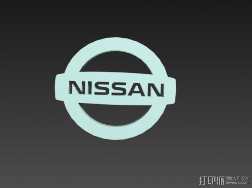 Nissan logo图标 3D模型  图1