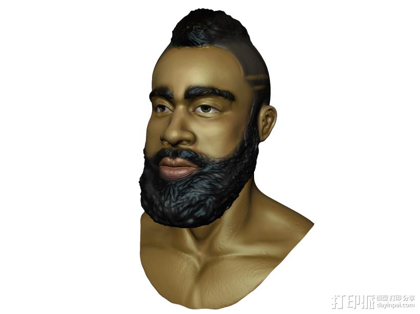 哈登 3D模型  图1