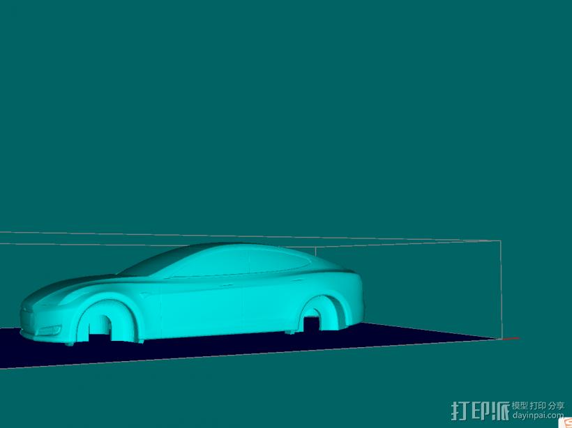 特斯拉模型上壳 3D模型  图1